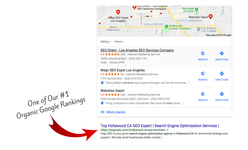 #1 Google Rank Top Hollywood CA SEO Expert